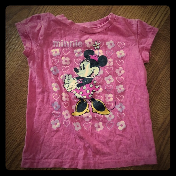 Disney Other - PINK MINNIE MOUSE TSHIRT SIZE 5/6 🎀